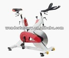 Red exercise bike fitness bike gym bike