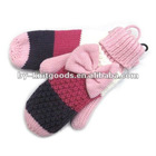 2012 fashion ladies' fashion winter mitten gloves