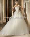 Elegant Lace & Tulle A-line Wedding Dress With Side Drape FW294