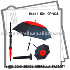 golf umbrellla with sword handle