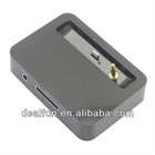 Portable Dock Charger for iPhone 5 30 Pin to 8 Pin with Earphone Jack