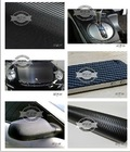 "DEDC 3D Carbon Fibre Vinyl Wrap Sticker Film black 50""x12"""