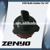 Hid bulb adaptor with H7 bulb for E39 car