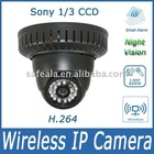 H.264 Sony 1/3 CCD IP Network Wireless Camera- PTZ camera with night vision