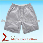 Double Mercerized cotton satin boxer shorts for mens
