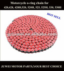 High quality colored motorcycle chain for 420,420H,428,428H,520,520H,415,415H,530,530H