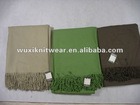 solid colour woven blanket