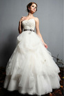 New Design!!Fantastic Re-embroidered Lace and Tulle Ball Gown with A Grosgrain Ribbon Bow Hand made Wedding Dress