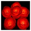 Led Red Rose Candle Lights Remote Control