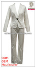 high fashion solid color fitted latest ladies suit
