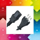 Italian standard 3 Pins Electrical Power cable with plug