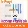 White Replacement LCD Touch Screen & Opening Tools for iPhone 4 Free Shipping+Drop Shipping