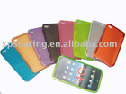 clear smooth Rubber silicone case cover with hole for iphone 4 4G