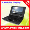 7 inch android 4 0 low price mini laptop