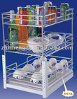 Kitchen chrome wire rack and cabinet pull out basket