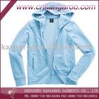 french terry Hooded zipper closure sweatshirt