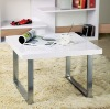 High gloss MDF and metal Side Table