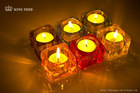 transparent acrylic oblong shape candle holder