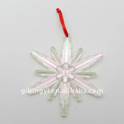 Acrylic Electroplating colorful snowflake ornament
