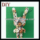 Fabric cute animal button eyes craft mobile phone strap