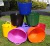 flexible PE garden bucket,garden storage boxes plastic