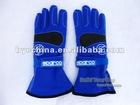 Go Kart Racing Glove, Alcantara Glove( Blue)