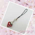 Strawberry cell phone charm ,cell phone charm manufacture,suppliers