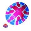 Plastic Union Jack Flag Bowler Hat
