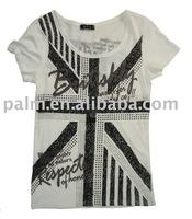 WB10-KG020,round neck,short sleeve,women apparel