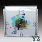 Decorative Glass Brick clock