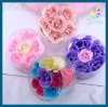 2011 fashion rose toilet soap artificial flowers