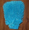 Brand new blue mouse cleaning car wash mitt chenille glove