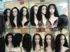 indian human hair curly full lace wig fashion style