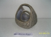 garden planter made of willow with plastic lining