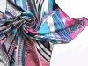 Grid Printing Style Twill Silk Scarf