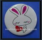 rabbit badges,button badge,metal pin badge