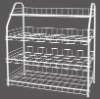 PE coated 4 tier Shoe rack
