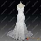 Real Sample Best Selling 2013 New Style Floor Length Sleeveless Mermaid Lace Spaghetti Straps Bridal Wedding Dress