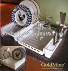 Foldaway Dish Rack plate rack/kitchen storage/folding dish rack