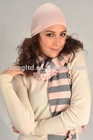 100% cashmere ladies sweater scarf and hat three-piece suit