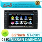 Nissan Qashqai car dvd player with dvd/cd/mp3/mp4/bluetooth/ipod/radio/tv/pip/3g! hot selling!
