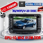 Dual Core 1080P Car DVD GPS for VW Golf 5 6 Polo Passat CC Jetta Tiguan Touran Sharan Eos amarok Transporter T5 seat 3G WIFI
