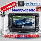 Dual Core 1080P Car DVD GPS for VW Golf 5 6 Polo Passat CC Jetta Tiguan Touran Sharan Eos amarok Transporter T5 seat 3G WIFI