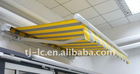 Awning half cassette - electric and manual control sunshade -- folding arm LCM